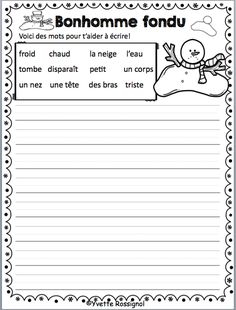 Du plaisir à écrire!! Parfait pour le 1er cycle! French Teaching Resources, Teaching French, Teaching Spanish, Writing Workshop, Writing Prompts, Communication Orale, French Language Learning, Spanish Language, French Lessons