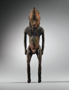 Statue masculine, Kopar, Village de Kopar, Embouchure du Sepik, Papouasie Nouvelle-Guinée