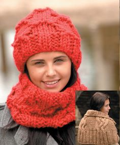 Capelet, Neck Warmer and Hat in Wendy Pampas - 5751