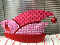 ♪ rot-pinke ♬ Narrenkappe mit roter/ pinker Krempe