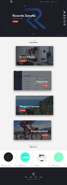 If you get bored with white or light background of your portfolio, here are 10 top design portfolios that inspire you to establish your new color identity. Portfolio Website Design, Personal Portfolio, Landing Page Design, Web Design Inspiration, Design Ideas, Website Template, Web Development, Action, Design Web