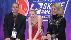 Rachael Flatt's reaction after outscoring Yu-Na Kim in the ladies free skate at 2009 Skate America.