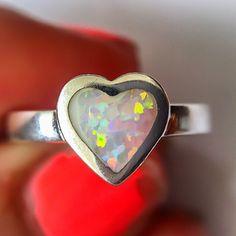 Heart Opal Ring | Bohemian Jewellery | Indie and Harper – www.indieandharper.com