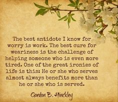 Antidote for Worry