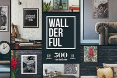 Wallderful Frames and Mockups - https://www.designcuts.com/product/mystery-tour/
