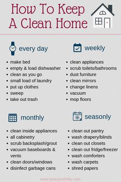 How To Keep A Clean Home declutter How To Keep A Clean Home // Habits of People.How To Keep A Clean Home declutter How To Keep A Clean Home // Habits of People Who Always Have A Clean Home // Cleaning Tips & Tricks // Cleaning Hacks Clean House Schedule, House Cleaning Checklist, Household Cleaning Tips, Diy Cleaning Products, Cleaning Hacks, Bedroom Cleaning Tips, New House Checklist, Home Cleaning, Apartment Cleaning Schedule
