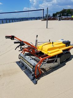 Barracuda walk behind beach cleaner, intensively sifts out beach debris without leaving tire tracks in sand. For Beaches, Golf Bunkers, Volleyball Courts. Tire Tracks, Clean Beach, Walk Behind, Cleaning Equipment, Broken Glass, Sands, Ultra Violet, Volleyball, Sea Shells