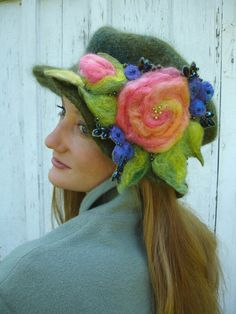 Beautiful felted hat.