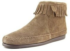Aerosoles Linbo Women W Round Toe Suede Brown Ankle Boot.