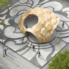 In summer 2011 the Institute for Computational Design (ICD) and the Institute of Building Structures and Structural Design (ITKE), together with students at the University of Stuttgart have realized a temporary, bionic research pavilion made of wood at the intersection of teaching and research