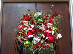 Small Whimsical Elf Wreath by HertasWreaths on Etsy