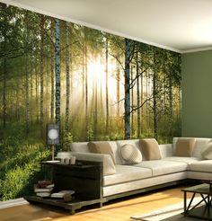 Simple living room interior a simple living room wall decor Modern Wallpaper, Wall Wallpaper, Forest Wallpaper, Sunrise Wallpaper, Photo Wallpaper, Nature Wallpaper, Wallpaper Designs, Office Wallpaper, Bedroom Wallpaper