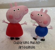 Peppa Pig and George Cold Porcelain