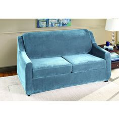 Sure Fit Stretch Pearson Full 3 Piece Sleeper Sofa Slipcover |  Overstock.com Shopping