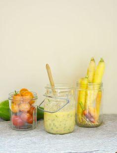Tahini - Yogurt Ginger Dressing How To Make Tahini, Marinated Chicken Thighs, Cucumber Tomato Salad, Tahini Dressing, Great Recipes, Yogurt, Nom Nom, Cooking, Ethnic Recipes