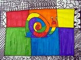 Rainbow Snails - complementary colors, patterns