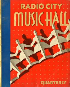 January 1936 edition of the Radio City Music Hall quarterly program, art directed by V. A. Hinzenberg, cover art and lettering by Lucian Bernhard via The Daily Heller
