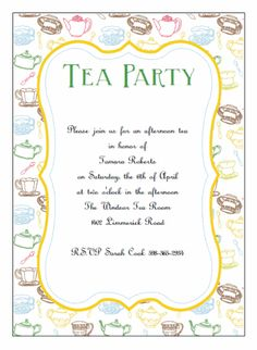 51 Best Tea Party Invitations Images Tea Time Tea Party Birthday