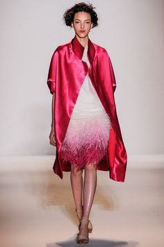 Lela Rose Fall 2013 RTW, ombre, pink