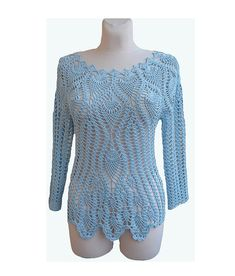 Bolero suéter-blusa hecha a la orden, ganchillo hecho a mano de ganchillo