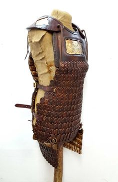 Hand Crafted Leather Armour Lamellar with acid by BattleReadyLtd