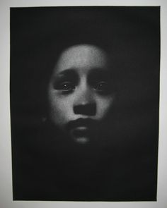 WINNER of the 1st ON PAPER International Print Award 2015: Cleo Wilkinson ,Australia. Pledge Mezzotint Print 30×40 cm www.OnPaperContest.com www.cleosart.com