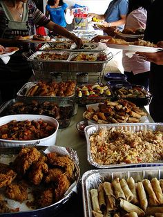 A Typical Filipino Party With Bunch Of Food To Represent My Social And Cultural