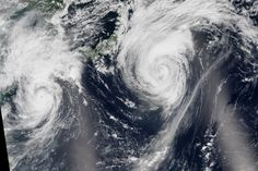 Typhoons Goni and Atsani, 8.24.15