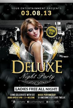 Free Deluxe Night Club PSD Flyer Template - Download Free PSD…