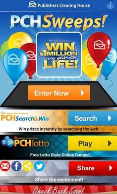 pch com sweepstakes login pch win 1million 5000 416