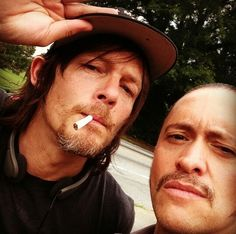 Norman Reedus and Clifton Collins Jr