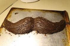 My first mustache cake, a success!