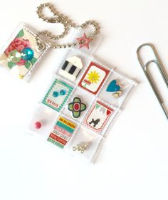 Retro Mini Pocket Letter Planner Charm by Jackie Benedict