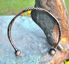 Hand Forged CELTIC TORC Iron Torques Hammered Jewellery Jewelry Celts Iron Age Pagan Necklace Torque Historical Jewel Re-enactment History $33