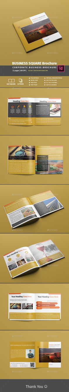Business Square Brochure Template InDesign INDD