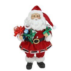 "12"" Santa Claus Holding Tootsie Pops Christmas Tabletop Decoration"