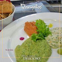 Cuando vengas a D'angelos no te olvides de pedir el Trío de Salsa #SencillamenteDelicioso para acompañar tu plato favorito.  #Gastronomía  #gourmet  #gastronomy  #sausage  #green  #Guayana  #PuertoOrdaz
