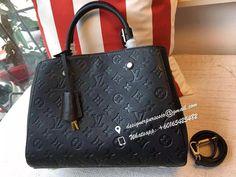 DesignerPurses.co — lv Montaigne monogram empreinte leather, Black...