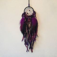 Ready Made 3 Inch Black and Purple by MyDreamcatcherLane on Etsy