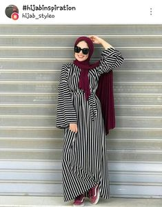 Hijab Fashion Summer, Modern Hijab Fashion, Muslim Women Fashion, Islamic Fashion, Abaya Fashion, Fashion Dresses, Hijab Style Dress, Casual Hijab Outfit, Hijab Chic