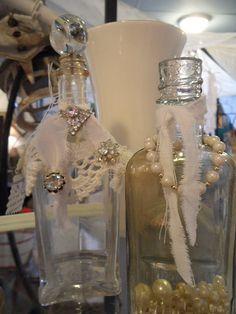 Some embellished bottles.