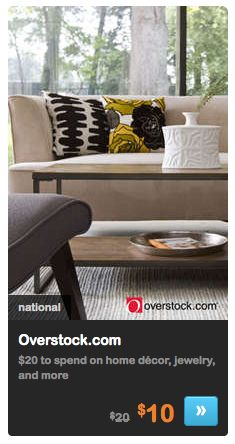 Overstock.com: $20 Gift Card for Only$10 - snag some great deals!