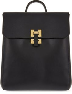 Love this: SOPHIE HULME Leather Flap Rucksack @Lyst