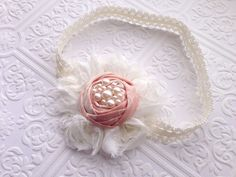 The In the Blush Headband or Hair Clip on Etsy, $14.50