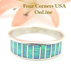 Four Corners USA Online - Size 11 Light Blue Fire Opal Inlay Band Ring Native American Ella Cowboy Silver Jewelry WB-1455, $135.00 (http://stores.fourcornersusaonline.com/size-11-light-blue-fire-opal-inlay-band-ring-native-american-ella-cowboy-silver-jewelry-wb-1455/)