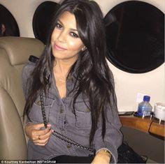 Kourtney Kardashian is Las Vegas bound on jet for her 36th birthday #dailymail