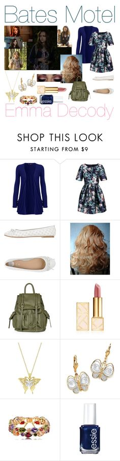 """Bates Motel-Emma Decody"" by ravenclawpride1019 ❤ liked on Polyvore featuring WearAll, Relaxfeel, Gioseppo, Topshop, Tory Burch, Allurez, Palm Beach Jewelry and Essie"