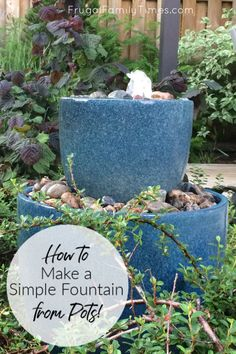 How to Make a DIY Bubble Fountain Garden Water Feature (in an afternoon & on a budget!) - This garden water feature was a quick and easy DIY – it only took an afternoon! How to make a DIY - Fountains Backyard Diy, Budget Garden, Garden Projects, Water Features In The Garden, Waterfalls Backyard, Backyard Landscaping, Easy Garden Ideas Landscaping, Garden Inspiration, Diy Fountain