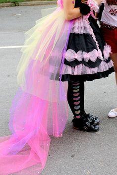 Loving the pastel tulle train! #sweetlolita