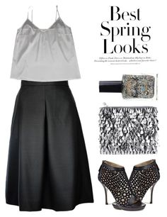 """""""Sequin & satin"""" by runway2street ❤ liked on Polyvore featuring Plakinger, Forest of Chintz, Emy Mack, H&M and Lauren B. Beauty"""